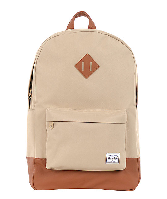 Herschel Supply Co. Heritage Khaki & Brown Backpack