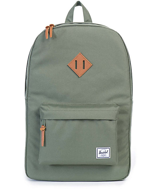 good service uk cheap sale incredible prices Herschel Supply Co. Heritage Lichen Green 21.5L Backpack