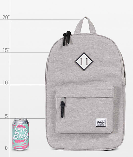 Herschel Supply Co. Heritage Light Grey Crosshatch 21.5L mochila