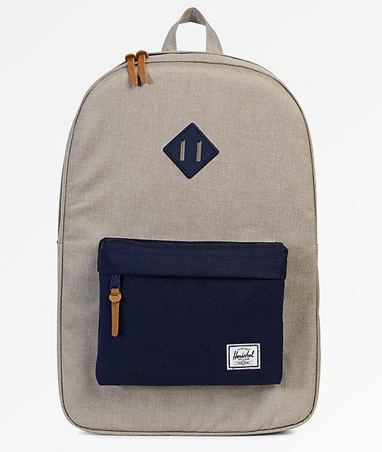 Herschel Supply Co. Heritage Light Khaki Crosshatch 21.5L Backpack    Zumiez.ca a2f3f9e961