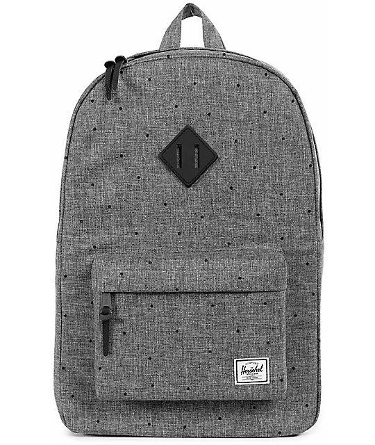 85fae1492bf5 Herschel Supply Co. Heritage Mid Raven Crosshatch 14.5L Backpack ...