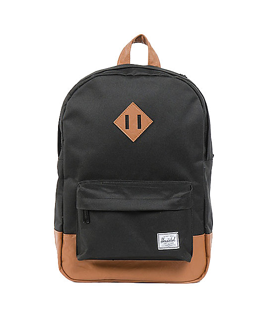 Herschel Supply Co. Heritage Mid-Volume Black Laptop Backpack  32be1ea003926
