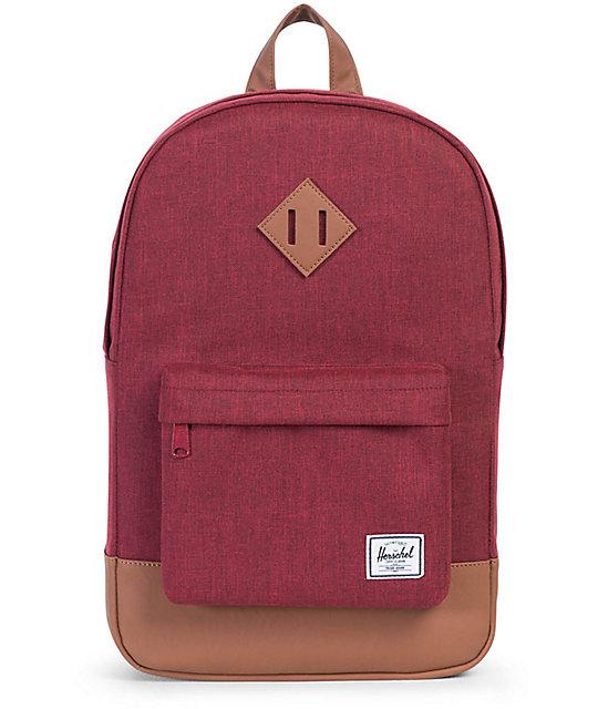 40bd760655e Herschel Supply Co. Heritage Mid-Volume Winetasting Crosshatch 14.5L  Backpack