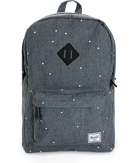 efda58aec2e Herschel Supply Co. Heritage Polka Dot Crosshatch 20L Backpack ... official  photos 265cb ...