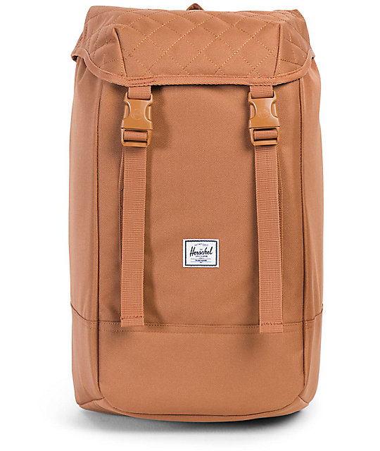 b23ada68552 Herschel Supply Co. Iona Caramel Quilted 24L Backpack