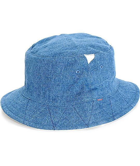3d445359b Herschel Supply Co. Lake Mid Wash Denim Reversible Bucket Hat