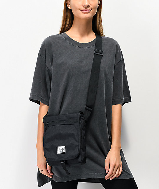 Herschel Supply Co. Lane Messenger Small Black Crossbody Bag
