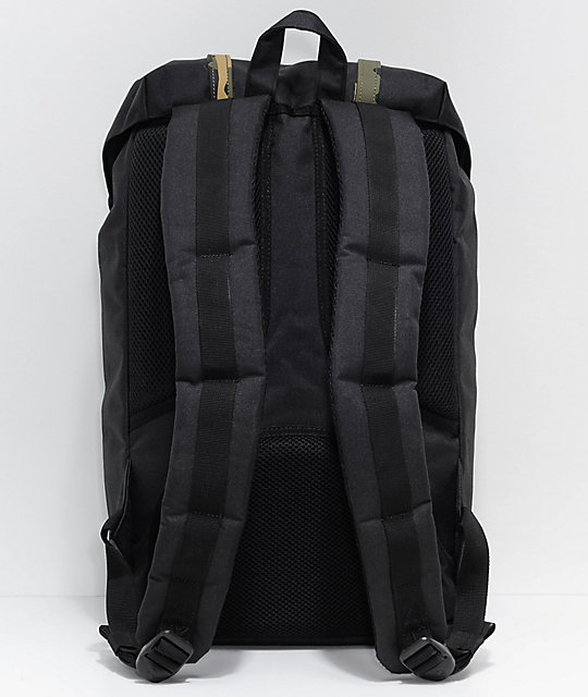 Herschel Supply Co. Little America  mochila negra y de camuflaje