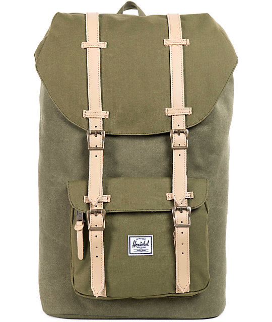 5578a7923e Herschel Supply Co. Little America Army Cotton Canvas Backpack