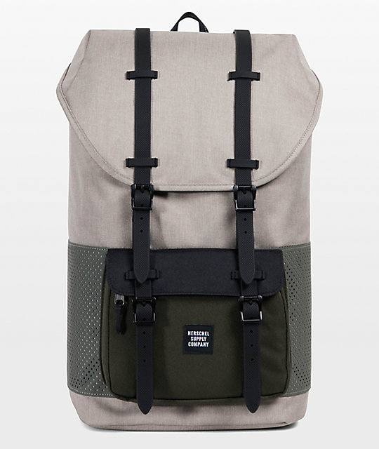 8f9c0fdfaf0 Herschel Supply Co. Little America Aspect Light Khaki Forest Night 25L  Backpack
