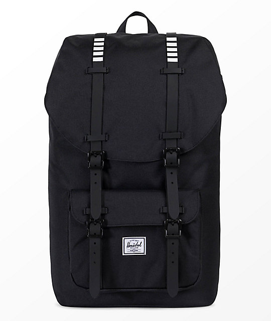 720028bce52 Herschel Supply Co. Little America Black   White 25L Backpack