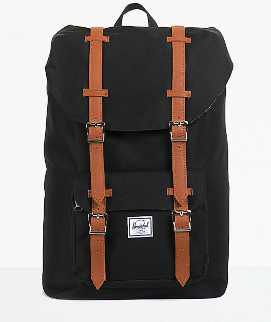 022b6fa371ca Herschel Supply Co. Little America Black 11L Mid-Volume Backpack ...