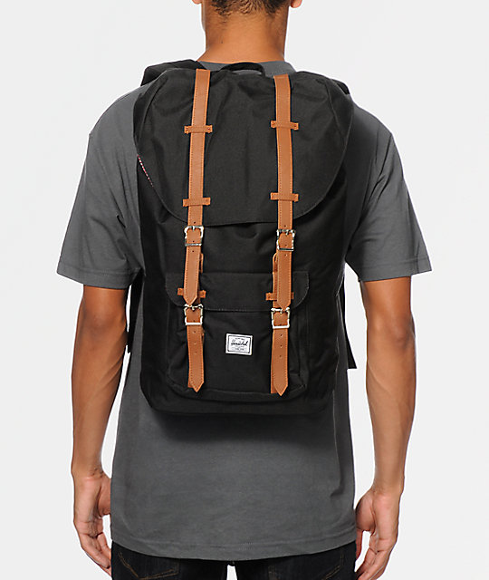 736b335831 Herschel Supply Co. Little America Black 25L Backpack