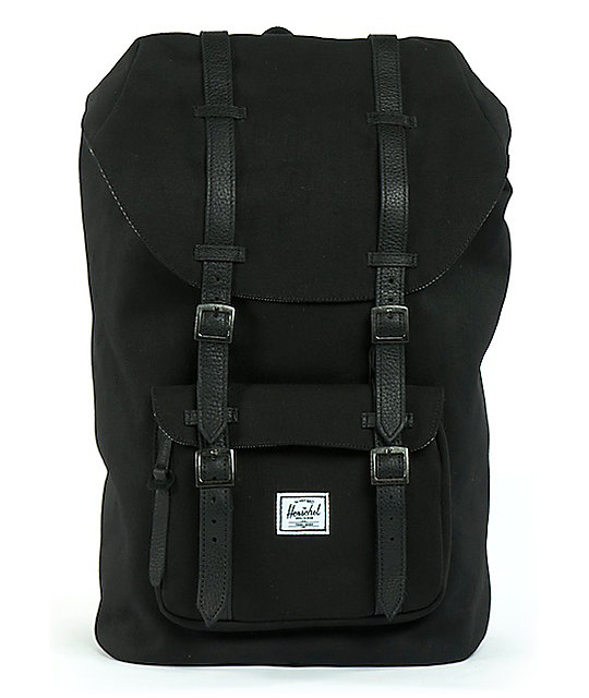 Herschel Supply Co. Little America Black Canvas Backpack