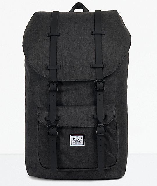46033ed9ff4 Herschel Supply Co. Little America Black Crosshatch Backpack