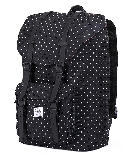 d02f73d84a0 Little America Black Polka Dot 24L Backpack  Herschel Supply Co. Little  America Black Polka Dot 24L Backpack ...