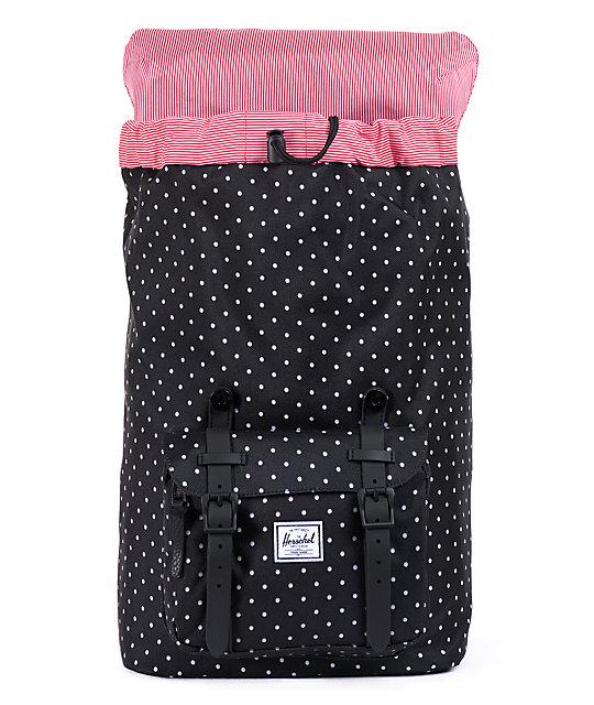 5e57c2f8d666 Herschel Supply Co. Little America Black Polka Dot 24L Backpack