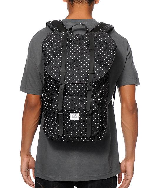 4802700f768f Little America Black Polka Dot Backpack  Herschel Supply Co. Little America  Black Polka Dot Backpack