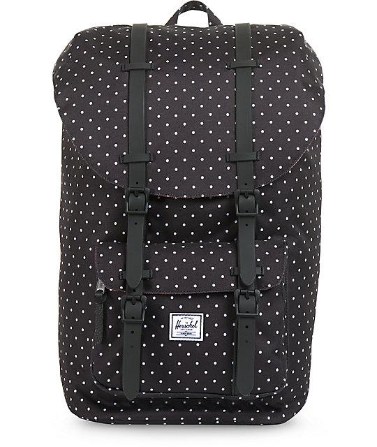 28891def751 Herschel Supply Co. Little America Black Polka Dot Backpack   Zumiez