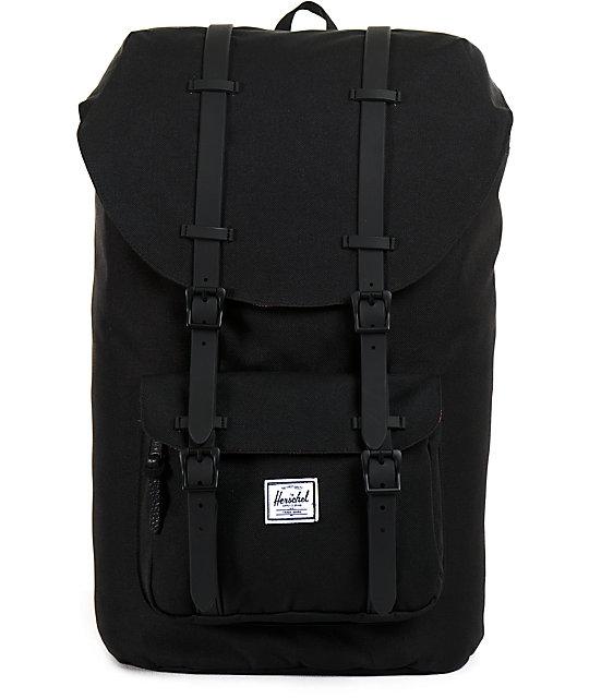 Herschel Supply Co. Little America Black Weather 24L Backpack   Zumiez 017ee3cdd4