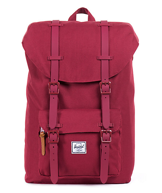 9548cbb4ad31 Herschel Supply Co. Little America Burgundy 11L Mid-Volume Backpack ...