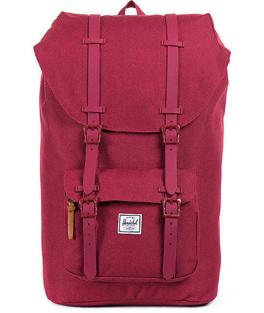 Herschel Supply Co. Little America Burgundy 24L Backpack  1d5f05cbef08f