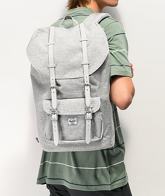 Herschel Supply Co. Little America Crosshatch mochila gris claro