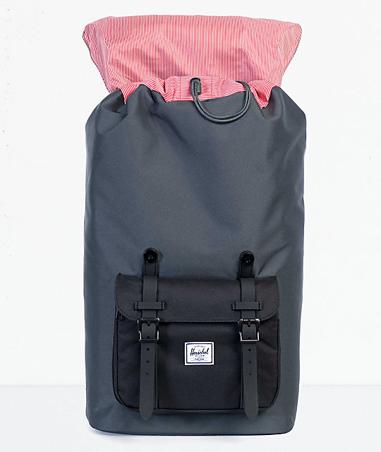 851993b6a35 Herschel Supply Co. Little America Dark Shadow   Black 25L Backpack ...