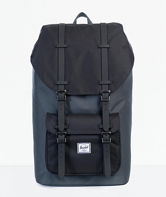 Herschel Travel Duffle Dark Shadow/Black Synthetic Leather taille unique FkZjF