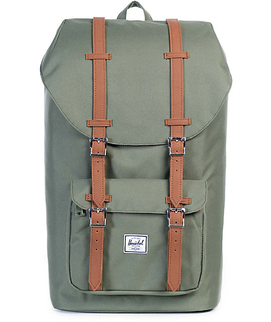 Herschel Supply Co. Little America Deep Lichen Green 25L Backpack ... d667827f2f459
