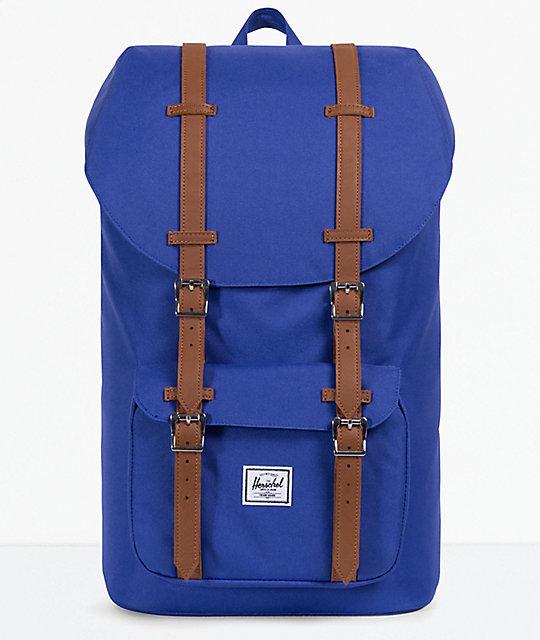 02cdc3daf68 Herschel Supply Co. Little America Deep Ultra Marine   Tan Backpack ...