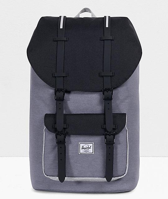 af31cba6b55 Herschel Supply Co. Little America Grey   Black Crosshatch Backpack ...