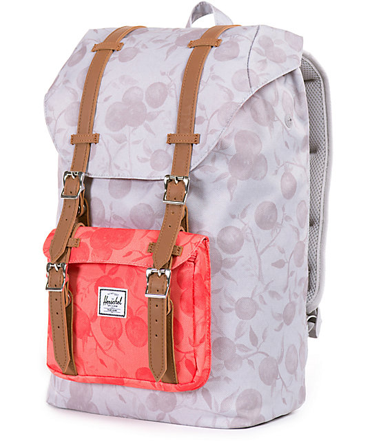 Herschel Supply Co. Little America Grey   Red Orchard 14.5L Backpack ... 523ad9244f115