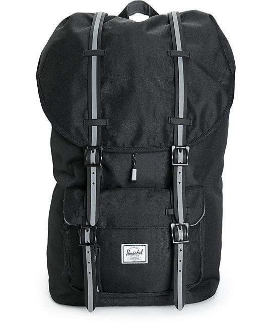 a0be4f115e Herschel Supply Co. Little America Hounds Black 23.5L Backpack