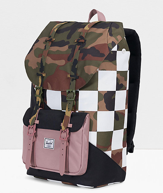 Herschel Supply Co. Little America Kaleidoscope Check & Camo Backpack