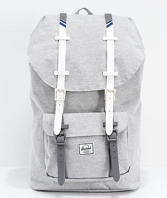 313f052291a Herschel Supply Co. Little America Light Grey   White Backpack
