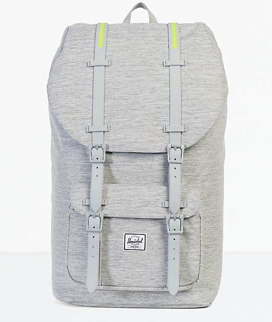 Herschel Supply Co. Little America Light Grey Crosshatch 25L Backpack  4ddf2e94554