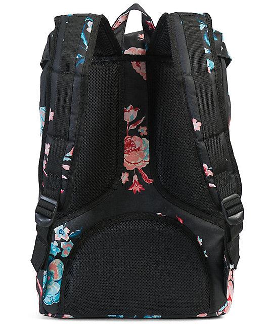 hot product designer fashion online for sale Herschel Supply Co. Little America Mid Pastel Petals 17L Backpack