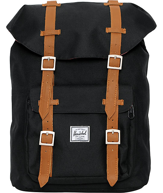 e273aa6d7432 Herschel Supply Co. Little America Mid-Volume Black Backpack