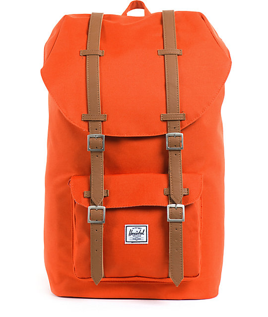4fcbc2dff24a Herschel Supply Co. Little America Mid-Volume Camper Orange Backpack ...