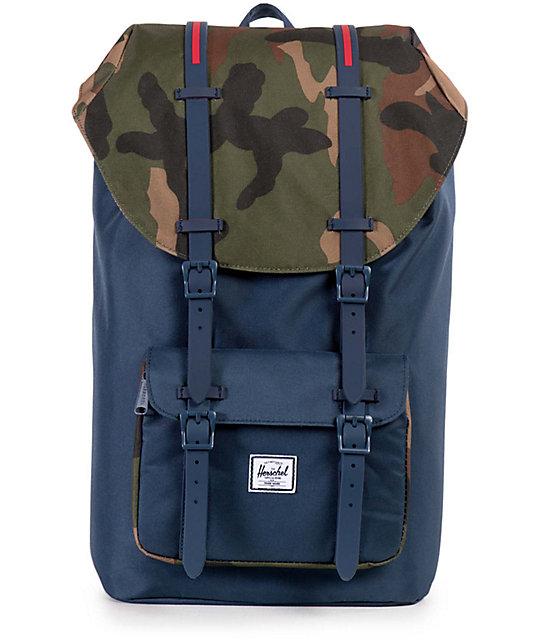 61f27eba2ba Herschel Supply Co. Little America Navy   Woodland Camo 25L Backpack ...