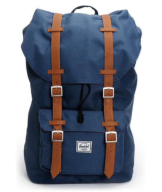 Herschel Supply Co. Little America Navy Blue 24L Backpack  cad4235aa414f