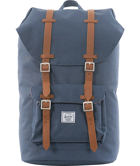 b4a9adef3bc3 Herschel Supply Co. Little America Navy Canvas Backpack