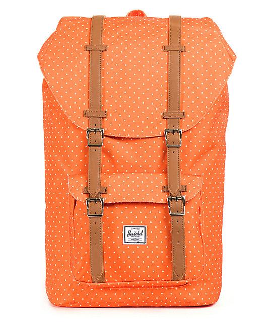 6679776c169 Reid Mini Polka Dot Backpack in B new arrival ee9a8  Herschel Supply Co.  Little America Orange Polka Dot 24L Back huge discount 0a0f8 7d572 ...