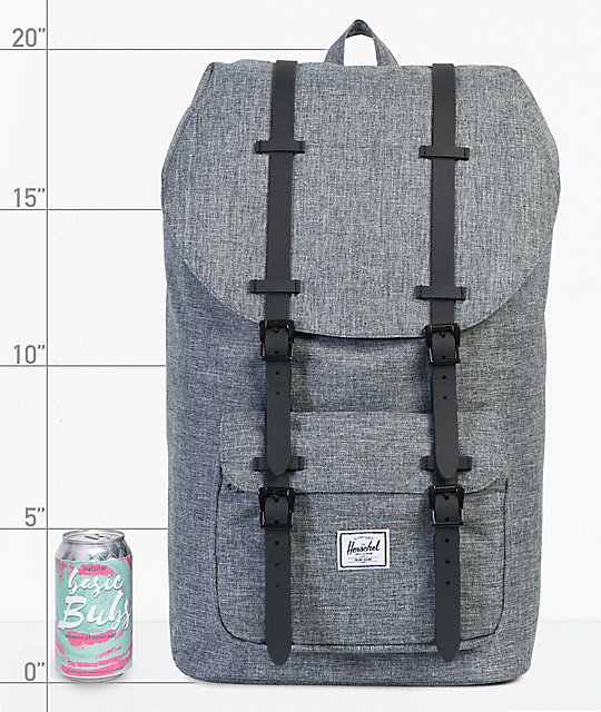 special section new arrivals wholesale sales Herschel Supply Co. Little America Raven Crosshatch 25L Backpack ...