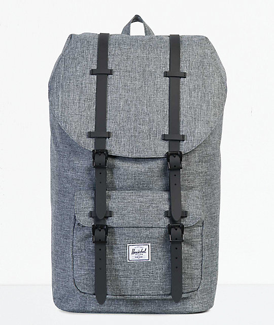 b0b18ed871f Herschel Supply Co. Little America Raven Crosshatch 25L Backpack ...