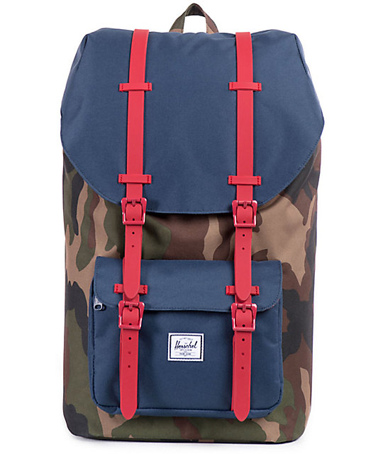 0f90c29fa3 Herschel Supply Co. Little America Woodland Camo 25L Backpack