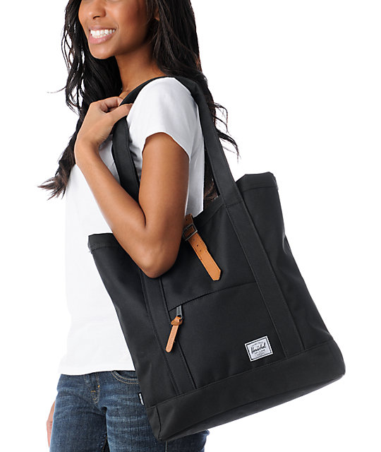 Herschel Supply Co. Market Black Tote Bag