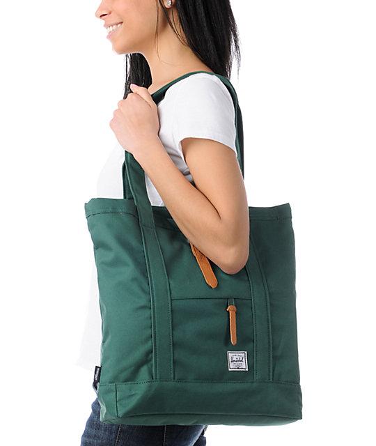 6b80a1d6bf5d Market Moss Green Tote Bag  Herschel Supply Co. Market Moss Green Tote Bag