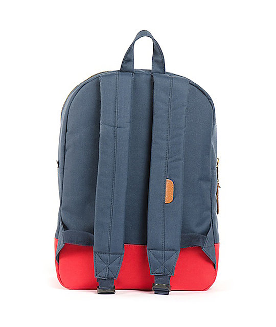 Herschel Supply Co. Navy & Red Mid-Volume Settlement Backpack